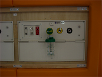 壁に常設された配管設備